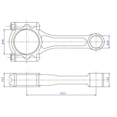 МОТОВИЛКА NISSAN ENGINE K21 - 005601
